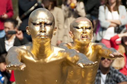 Performers in Gold