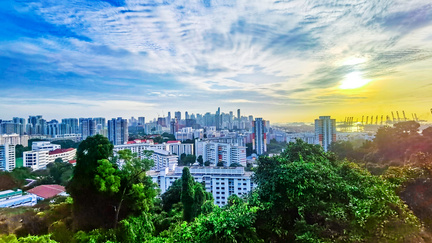 Sunrise at Mount Faber
